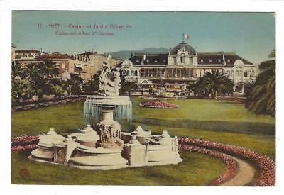 1937 France To USA Postcard - Nice - Casino at Albert 1st Garden- Message (SS93)