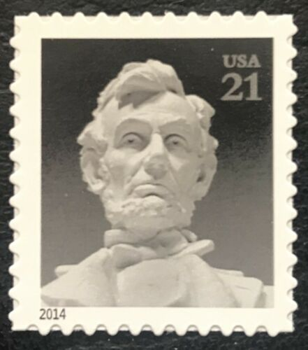 2014 Statue of Abe Lincoln Single 21c Postage Stamp - MNH, OG - Sc# 4860