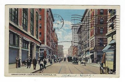 1918 USA Picture Postcard - Granby Street, Norfolk, VA (AP73)
