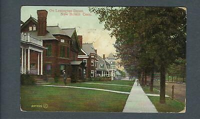 VEGAS - Posted 1909 Photo Postcard Lexington Street, New Britain, CT - FD358
