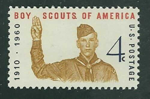 1960 Boy Scouts Single 4c Postage Stamps - Sc# 1145 - MNH, OG - CX500b
