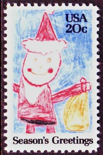 1984 Christmas Santa Single 20c Postage Stamp - Sc# 2108 - MNH, OG - CX887a
