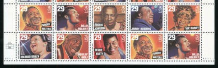 1994 Blues Singers Strip Of 10 As Shown Or In Different Order - Sc# 2854-2861a - MNH, OG - CW233b