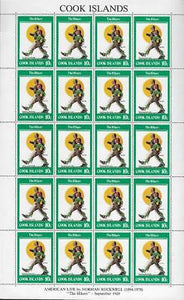 1982 Cook Islands Sc 684 Norman Rockwell Full Sheet - MNH OG - (CG87)