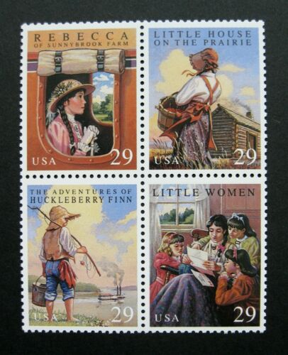 1993 Children's Classic Novels Block Of 4 29c Postage Stamps - Sc 2785-2788 - CW376