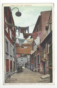 Vintage Canada Picture Postcard - Sous Le Cap, Quebec - Narrowest Road (AL7)