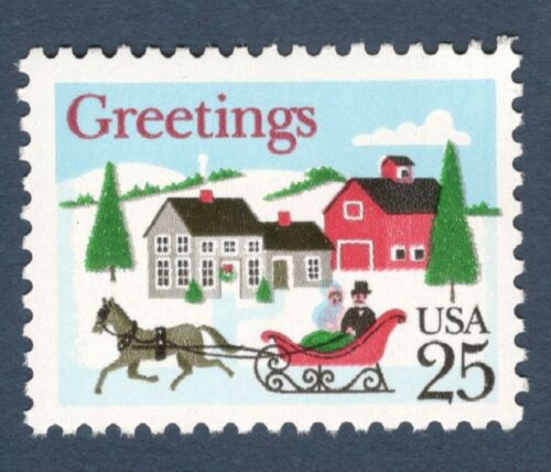 1988 Christmas Greetings -Single 25c Postage Stamp - Sc# 2400 - MNH - CX808b