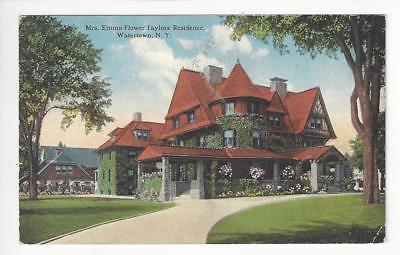 Posted 1915 USA Postcard - Emma Flower Taylors Residence, Watertown, NY (AT72)