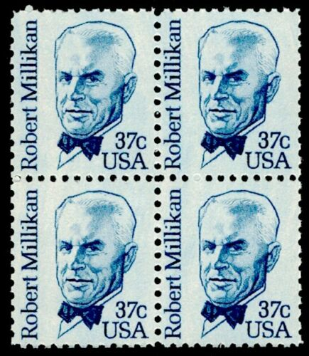 1982 Robert Millikan, Nobel Physicist Block of 4 37c Postage Stamps - MNH, OG - Sc# 1866
