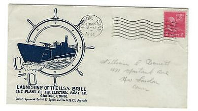 VEGAS - 1944 Submarine Brill Launch Spader Cover - Groton, CT - FD253