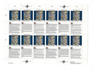 United Nations Vienna - Sc# 139 - MNH Full Sheet - Article 23 - (CO71)