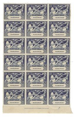 1949 Bahamas Scott #151 - Block of 18! MNH, OG (Gum Crease) (BW98)