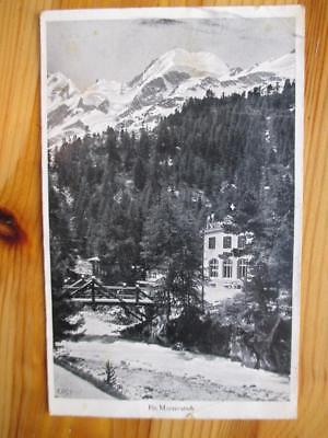 Vintage Switzerland Photo Postcard - Hotel Morteratsch - See Reverse (ZZ110)