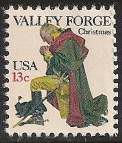 1977 George Washington At Valley Forge Single 13c Postage Stamp - MNH, OG - Sc# 1729
