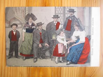 Early 1900s France Postcard - Costumes Alsaciens (ZZ106)