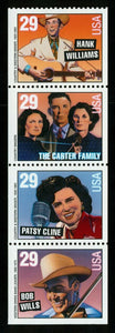 2004 -Country Music Legends Booklet Pane Of 4 29c Postage Stamps As Shown - Sc# -2775-2778 - MNH, OG - CX664