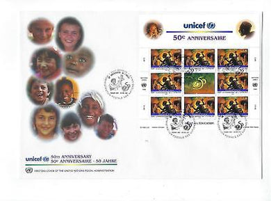 1996 United Nations Geneva -Sc# 295 Full Sheet First Day Cover (CO82)