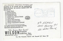 Load image into Gallery viewer, 1963 USA Ad Postcard - For Oil Change Wilson Pontiac, Birmingham, MI (AQ48)
