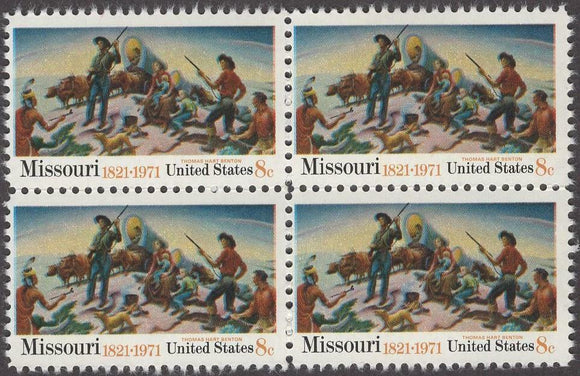 1971 Missouri Statehood Block Of Of 4 8c Postage Stamps - Sc# 1426 - CW225