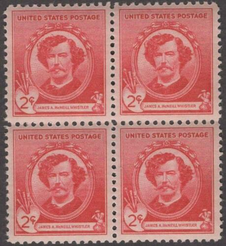 1940 James McNeill Whistler Block Of 4 2c Postage Stamps - MNH, OG - Sc# 885 - CX449a