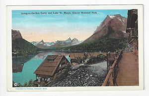 Vintage USA Postcard- Lake St Marys, Glacier National Park (AH79)