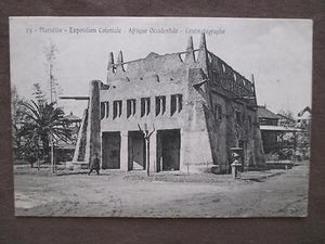 Probably 1906 Marseille Colonial Expo Photo Postcard - Occidential Africa (VV34)