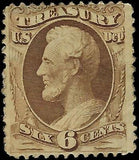 VEGAS - 1873 Sc# O75 Treasury Dept - MH, ~ 10-15% OG - Crease - EN6