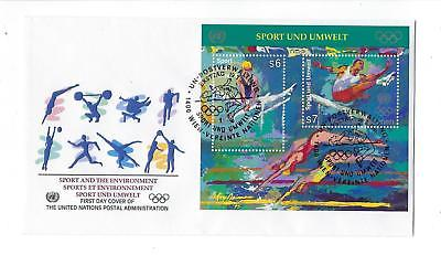 1996 UN United Nations Vienna First Day Cover Sc # 207 Sport & Environment(CN90)
