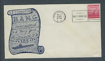 VEGAS - 1943 Submarine Bang - Commission Contraros Cover -Portsmouth, NH - FB277