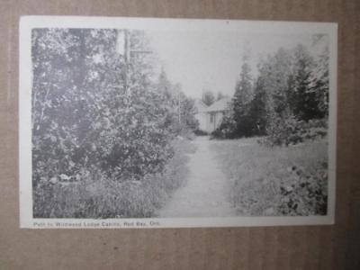 1948 Canada Photo Postcard - Wildwood Lodge Cabins, Red Bay, Ontario-Read (ZZ24)