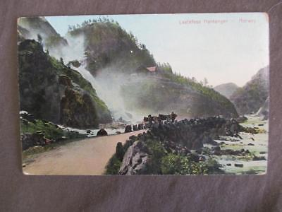 Est Early 1900s Norway Picture Postcard - Laatefoss Hardanger (TT117)