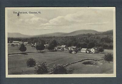 VEGAS - 1933 Chester, VT With Interesting Message Photo Postcard - FD384