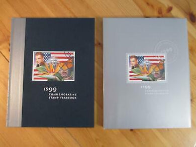 VEGAS - 1999 USPS Stamp Yearbook With All Nicely Mounted Stamps & Jacket! -EZ123