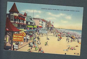 VEGAS - Vintage Postcard Old Orchard Beach, Maine - North From Pier - FD350