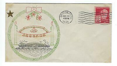 VEGAS - 1940 USA Submarine USS Grampus Launch Christmas Theme Color Cover -EX239