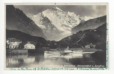 1924 Switzerland Photo Postcard - Interlaken (AN48)