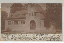 Load image into Gallery viewer, 1906 USA Photo Postcard - Walton, NY, Library - Mailed To Paris (AJ33)