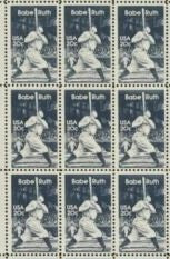 1983 Babe Ruth Baseball Player Block Of 9 Sc# 2046 -MNH - DS168b
