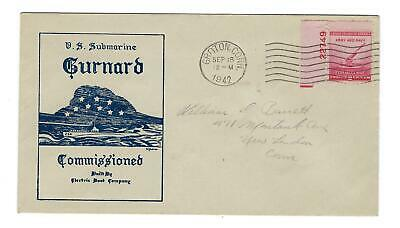 VEGAS - 1942 Submarine Gurnard Commission Greene Cover - Groton, CT - FD238
