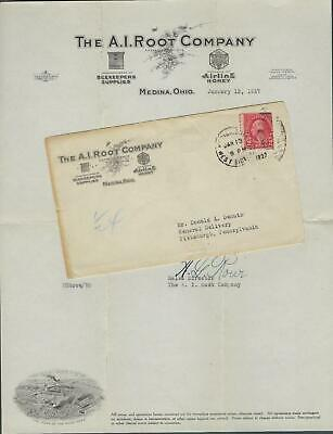 VEGAS - 1927 Xtreme Ad Cover & Letterhead! AI Root Co, Medina, OH - Honey- EX244