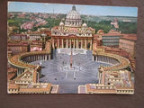 1964 Vatican To USA Postcard With Message (VV106)