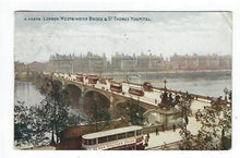 Load image into Gallery viewer, 1912 Great Britain Picture Postcard - London Westminster Bridge (AP79)