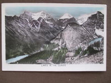 Load image into Gallery viewer, 1953 Canada Photo Postcard - Lakes In The Clouds - Posted Banff, Alberta (UU71)