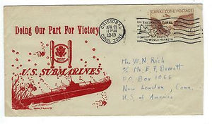 "VEGAS - 1949 USA Canal Zone Posted US Submarines ""Our Part For Victory"" - ED6"