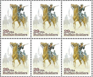 1994 Buffalo Soldiers Black Heritage Block Of 6 29c Postage Stamps - Sc# 2818 - MNH, - CW365b