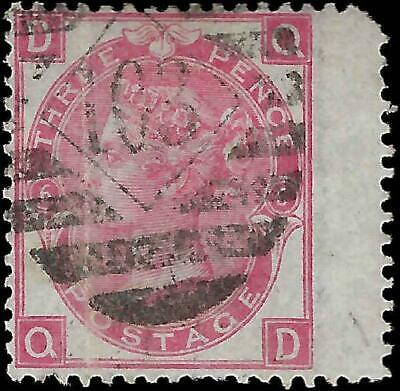 VEGAS - 1867-80 Britain - Sc# 49 - P6 - Jumbo Margin - Vertical Crease (FD43)