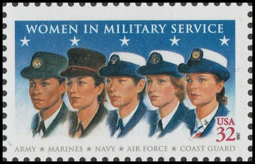 1997 Women in Military Service Single 32c Postage Stamp - MNH, OG - Sc# 3174