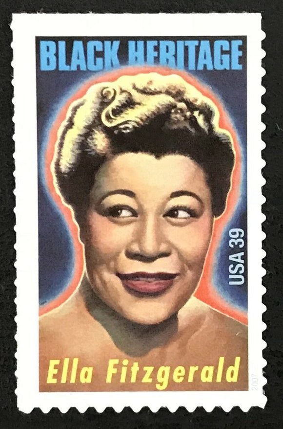 2007 - Ella Fitzgerald Single 39c Postage Stamp- Sc# - 4120 - MNH, OG - CX850