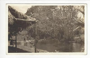 1937 Caribbean to USA Photo Postcard - Balneario De San Miguel (AQ1)