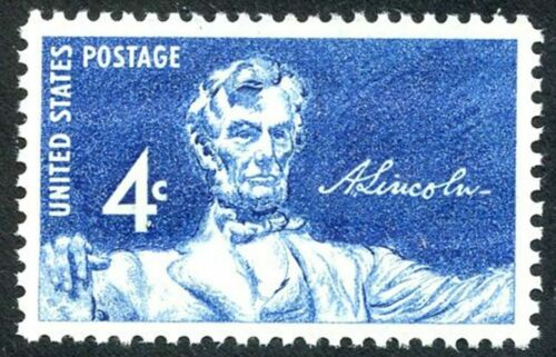 1959 Abraham Lincoln Single 4c Postage Stamp - Sc 1116 - MNH, OG - CX871